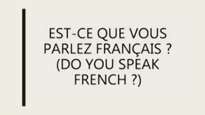 French Language Course (9414)   Lesson 03